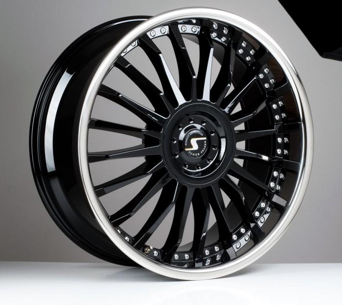 Schmidt Felgen 22 Zoll CC-Line für Chrysler 300C Typ LX Hecktriebler, GlossBlack