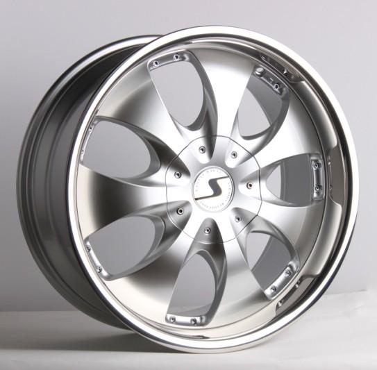 Schmidt Felgen 20 Zoll Rhino für BMW 5er E61 Touring Hecktrieb, Highgloss Silber