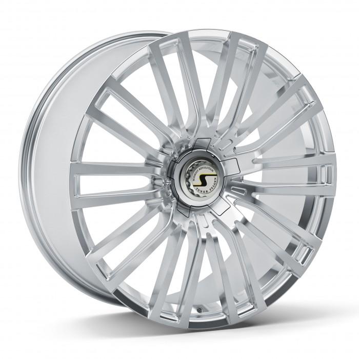 Schmidt Felgen 23 Zoll Eckstein für Mercedes-Benz G-Klasse W463, Highgloss Silber