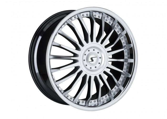 Schmidt Felgen 22 Zoll CC-Line für Mitsubishi Pajero V80, Highgloss Silber